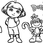 Property Header Dora The Explorer Desktop Portrait Coloring Page