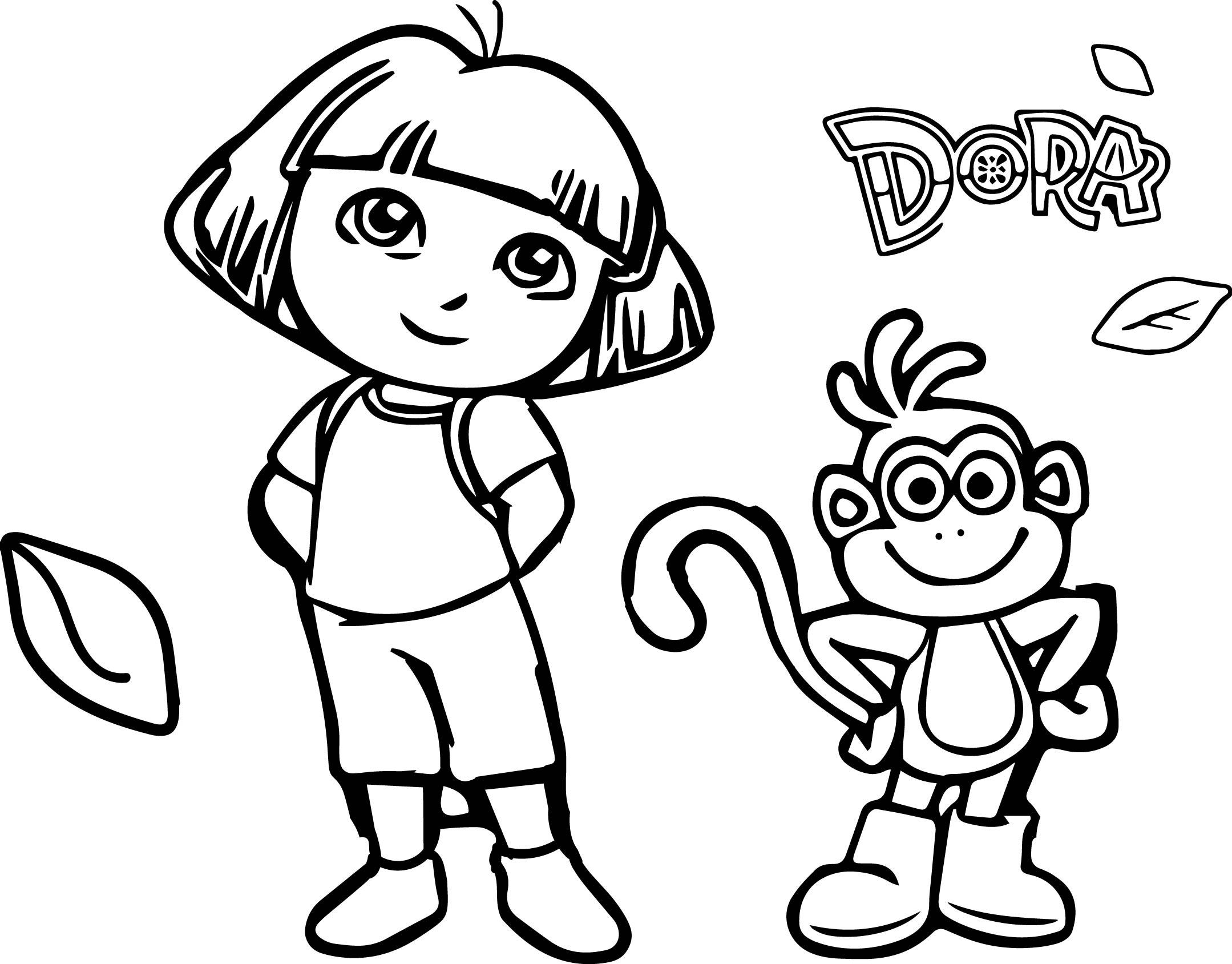 Property Header Dora The Explorer Desktop Portrait Coloring Page