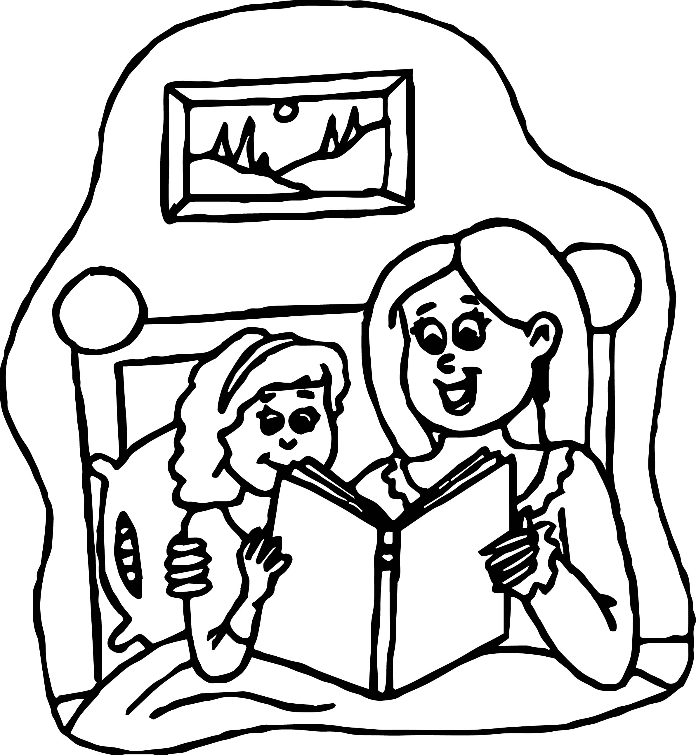 Reading Activity Coloring Page