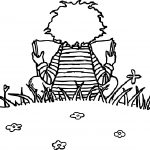 Reading Kid Activity Coloring Page