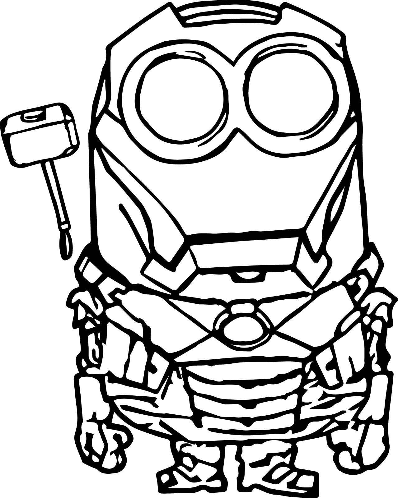 robot minion coloring page - Minion Coloring Pages
