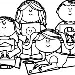 School Kids Image Coloring Page