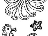 Sea Creatures Coloring Page
