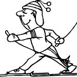 Snow Activity Coloring Page
