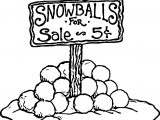 Snowballs Sale Coloring Page
