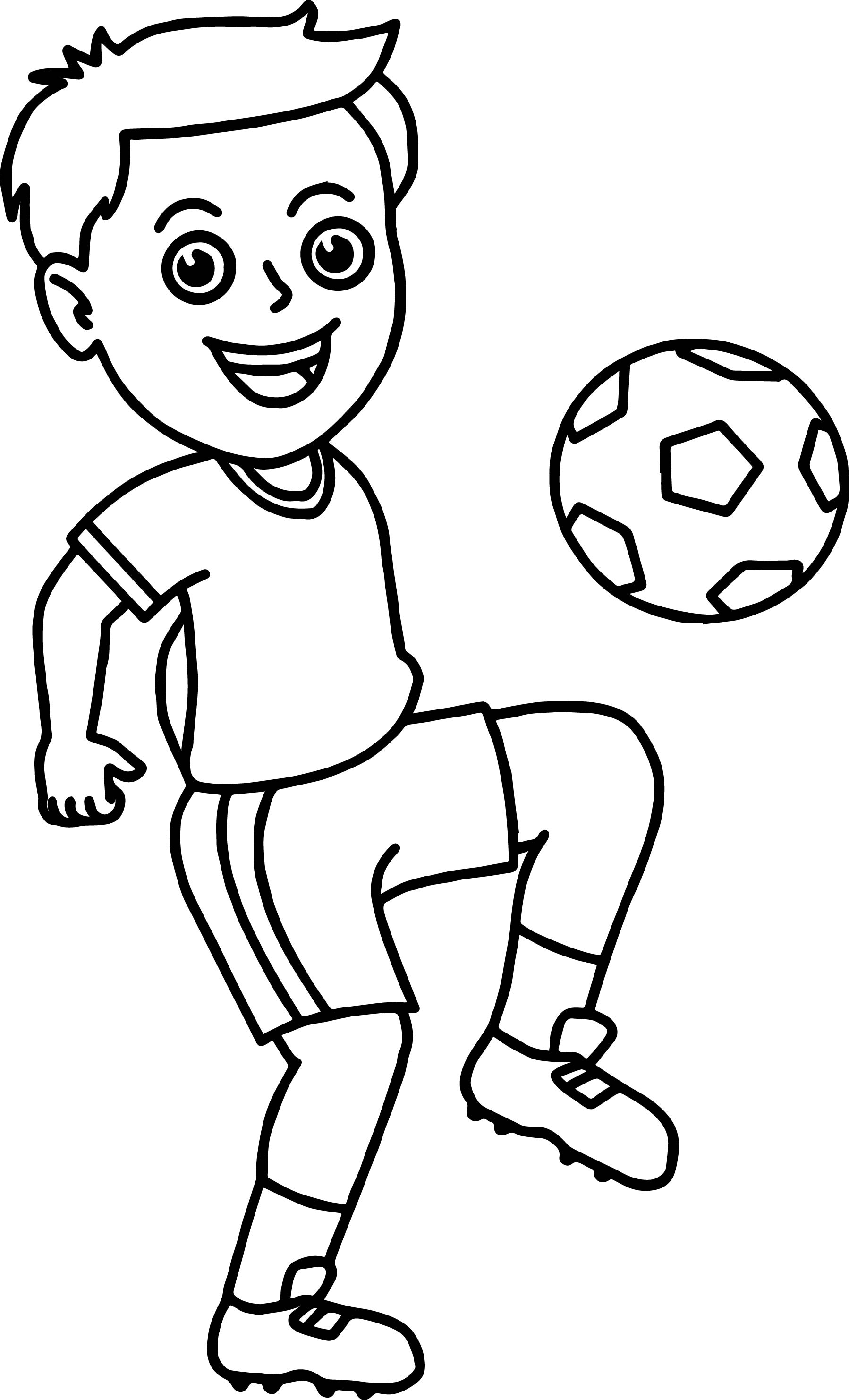 Soccer Player Boy Coloring Page