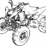 Sport ATV Yamaha Raptor Coloring Page