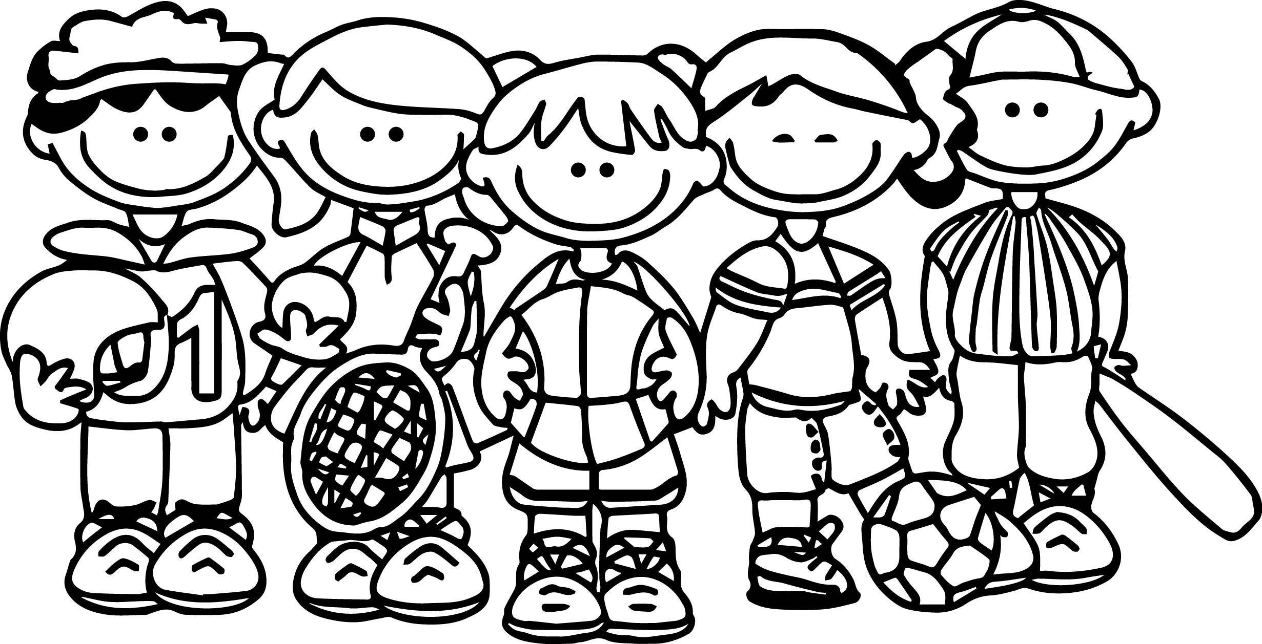 sport team kids coloring page. Black Bedroom Furniture Sets. Home Design Ideas