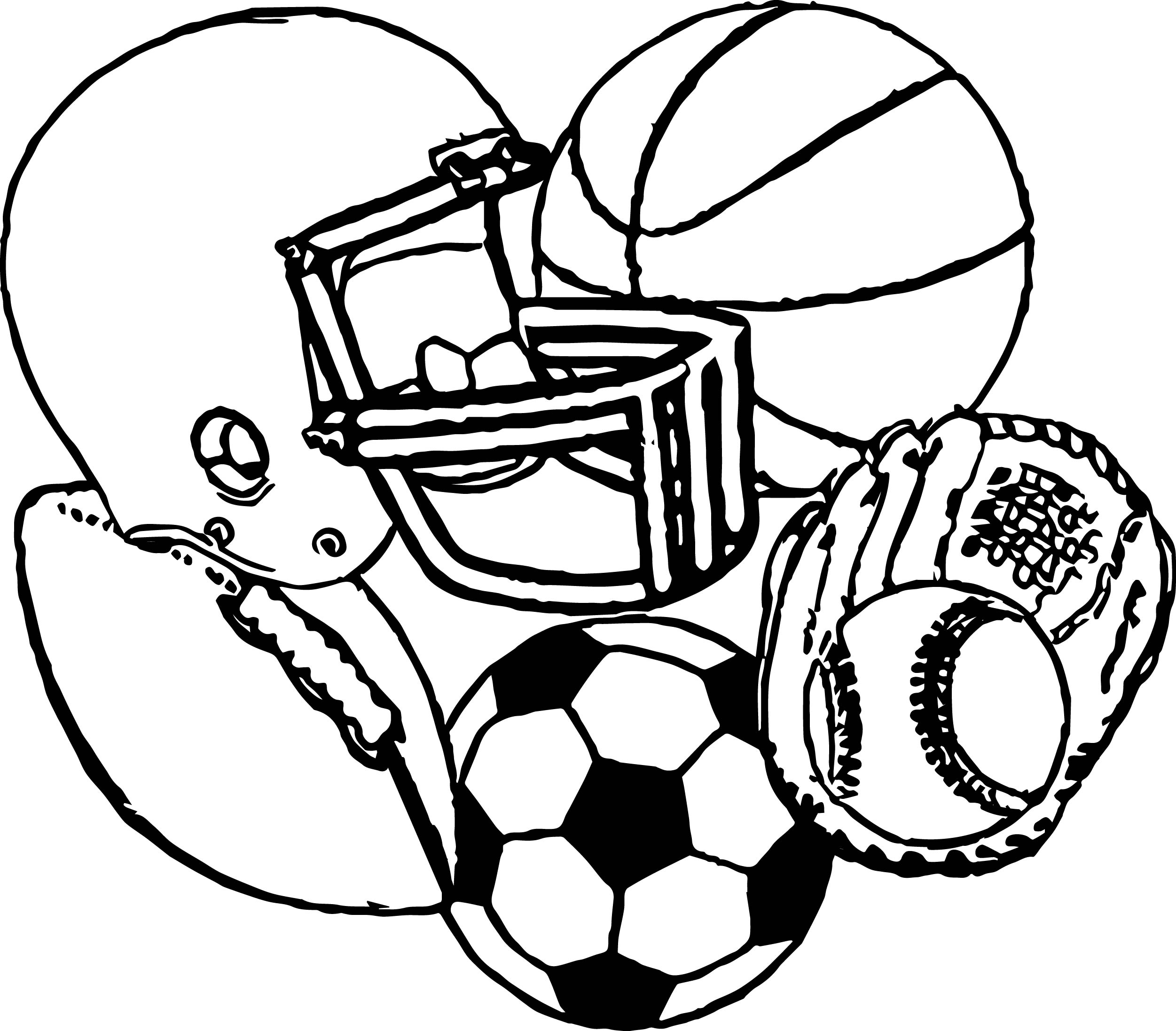 Sports Activity Coloring Page