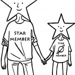 Star Member Adult Coloring Page
