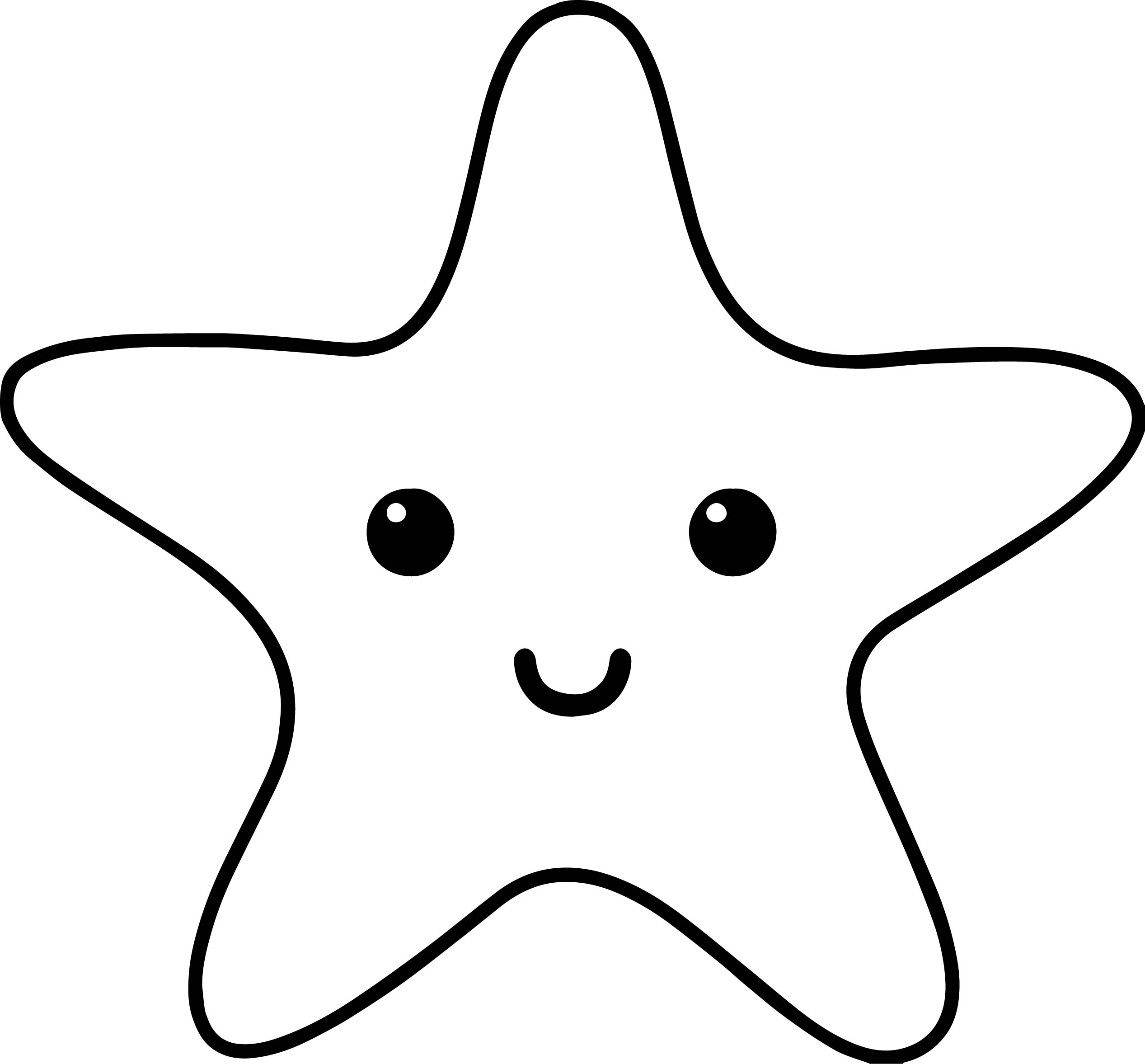 Starfish sea creatures coloring page for Sea creature coloring page