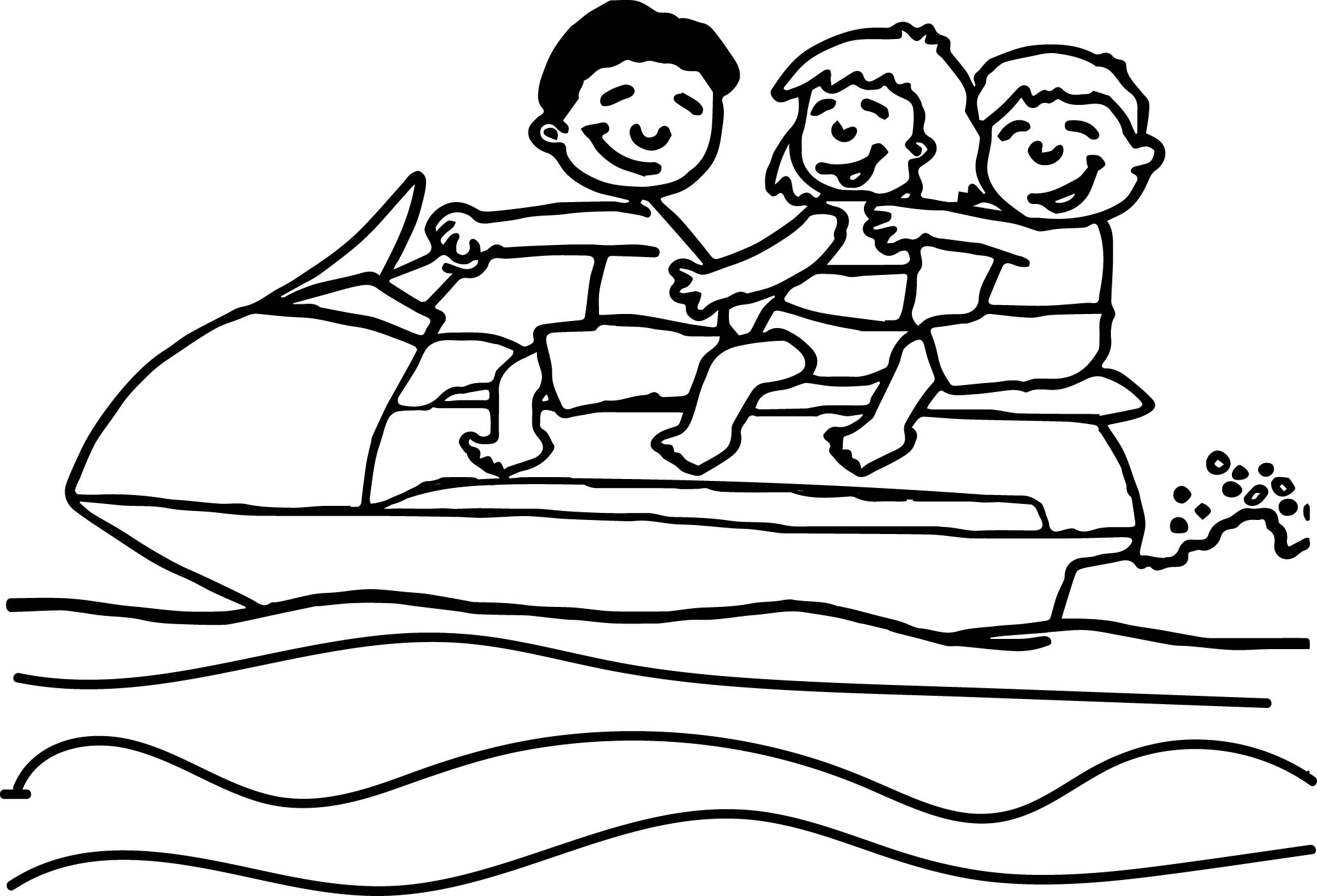 Summer Activity Coloring Page