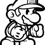 Super Mario Boxing Coloring Page