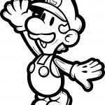 Super Mario Brother Luigi Coloring Page