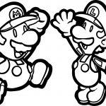 Super Mario Brothers Super Mario Fly Coloring Page