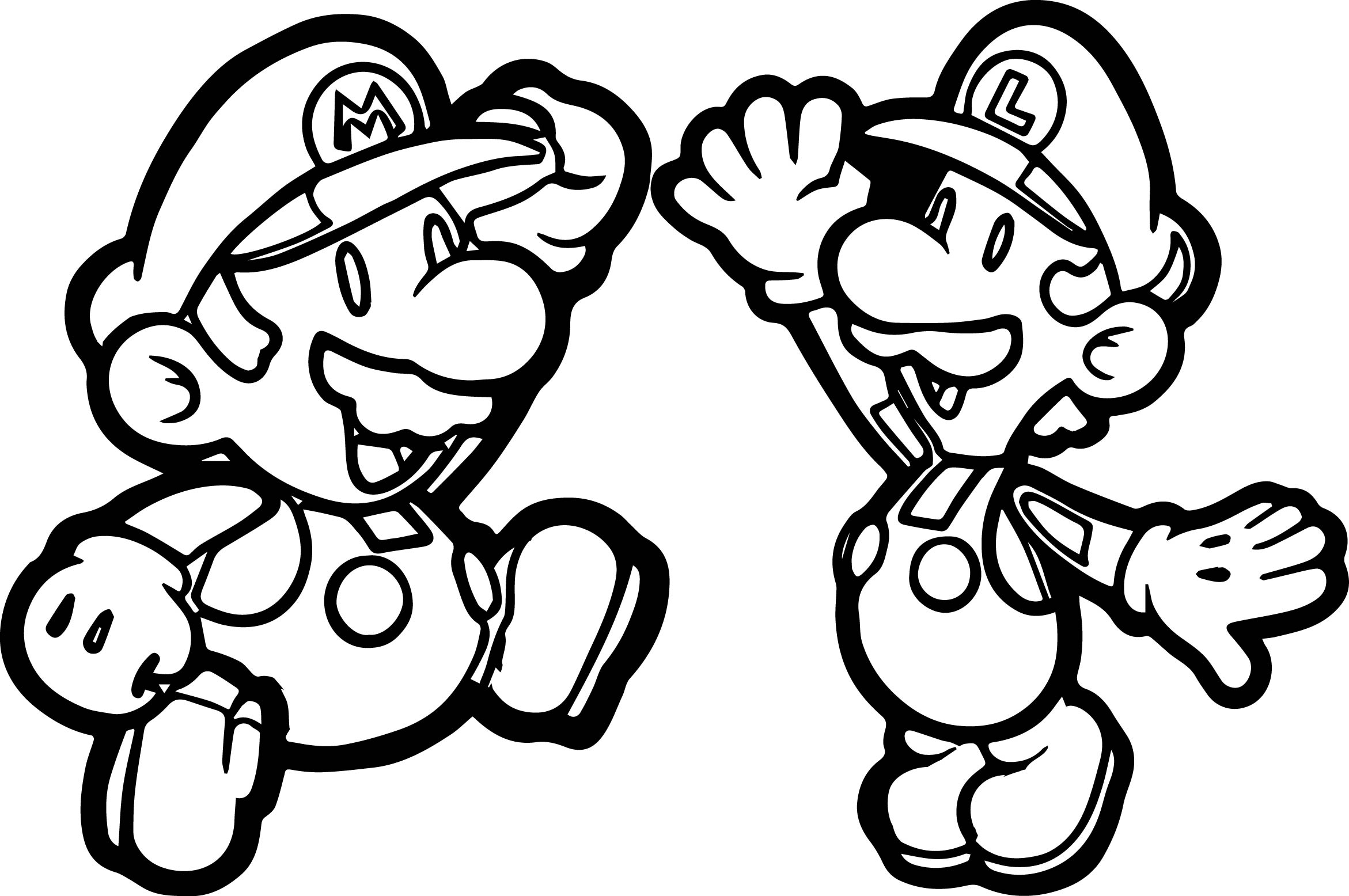 Super Mario Brothers Fly Coloring Page