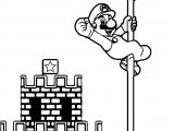 Super Mario Castle Pole Coloring Page