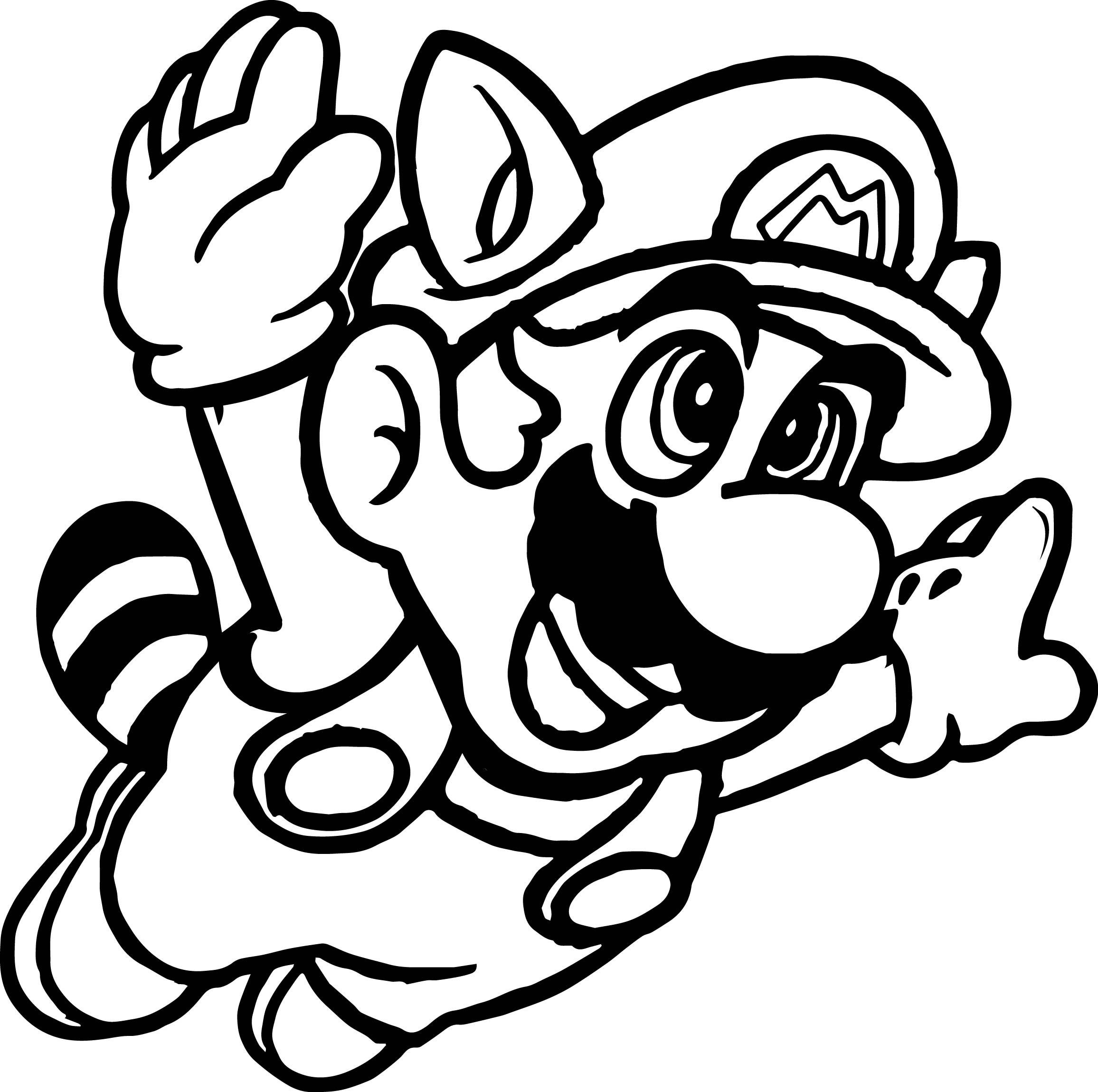 Super mario fly coloring page for Mario color page