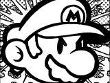 Super Mario Free Super Mario Coloring Page