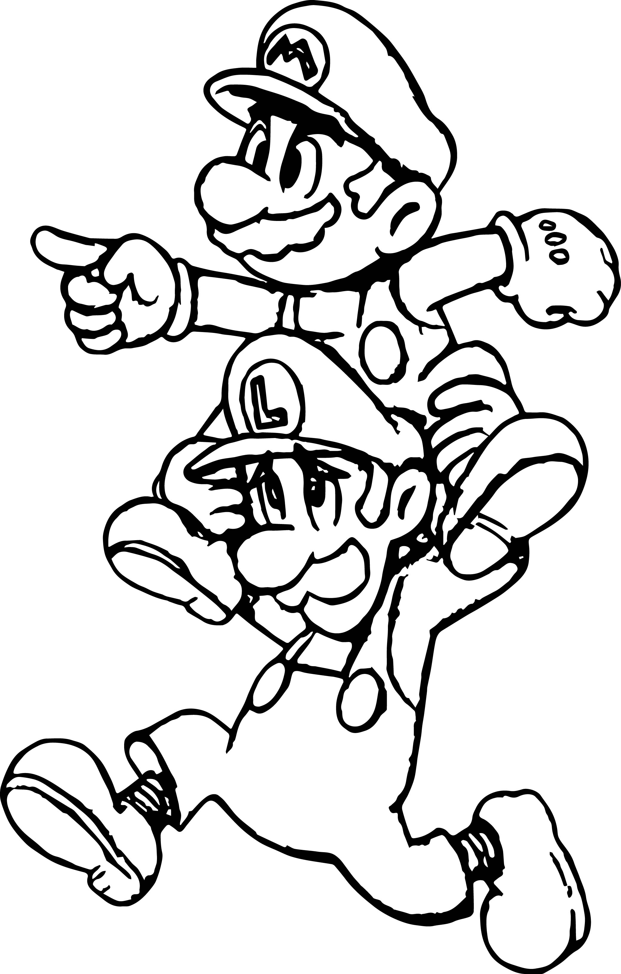 Super Mario Lets Go Coloring Page