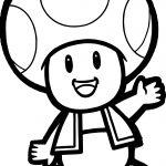 Super Mario Mushroom Coloring Page