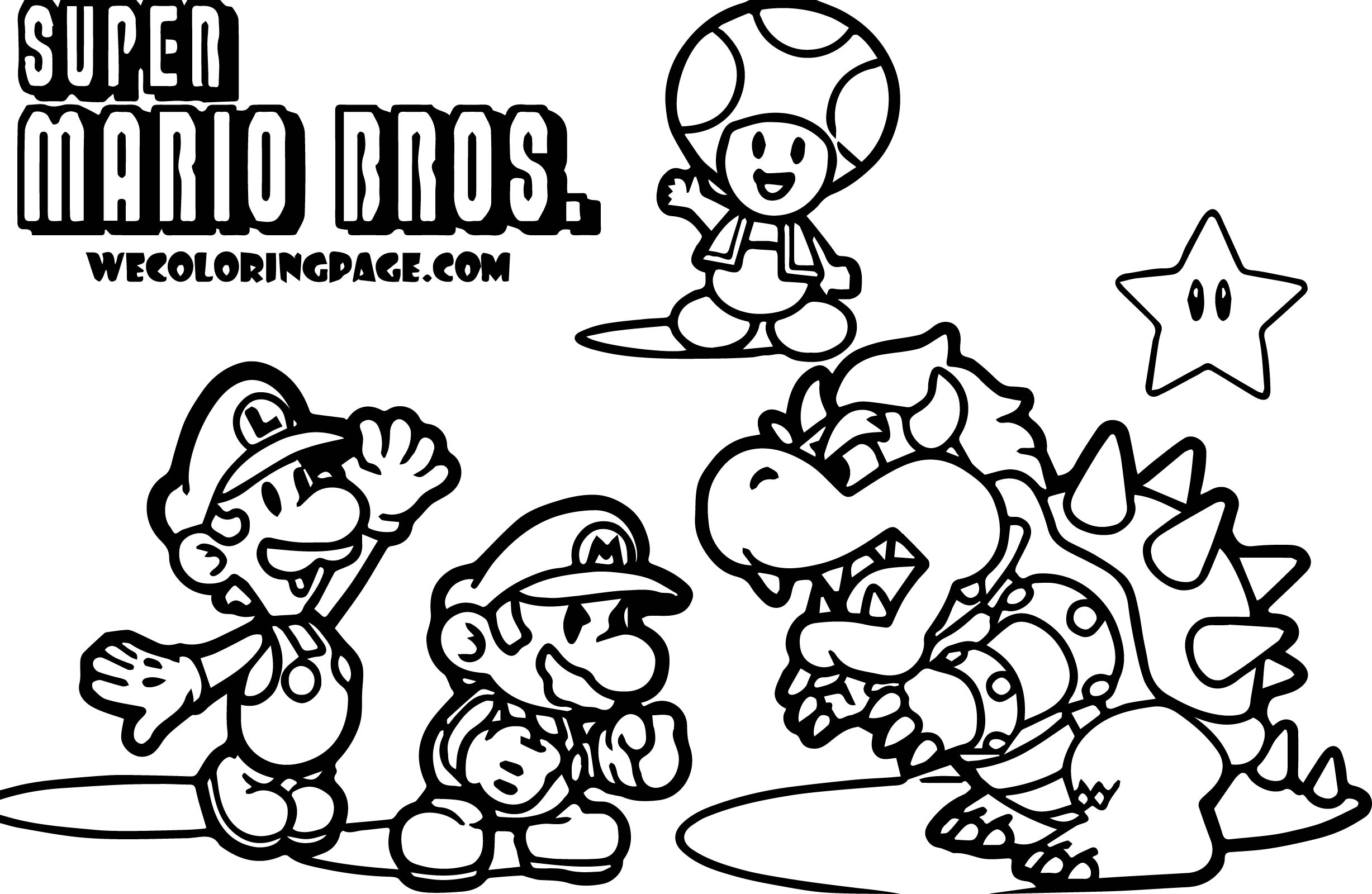 Super mario pack scene super mario coloring page for Mario color page