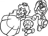 Super Mario Princess Mushroom Coloring Page