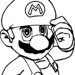 Super Mario Ready Coloring Page