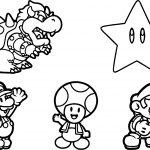 Super Mario Sheet Coloring Page