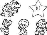Super Mario Sheet Coloring Page