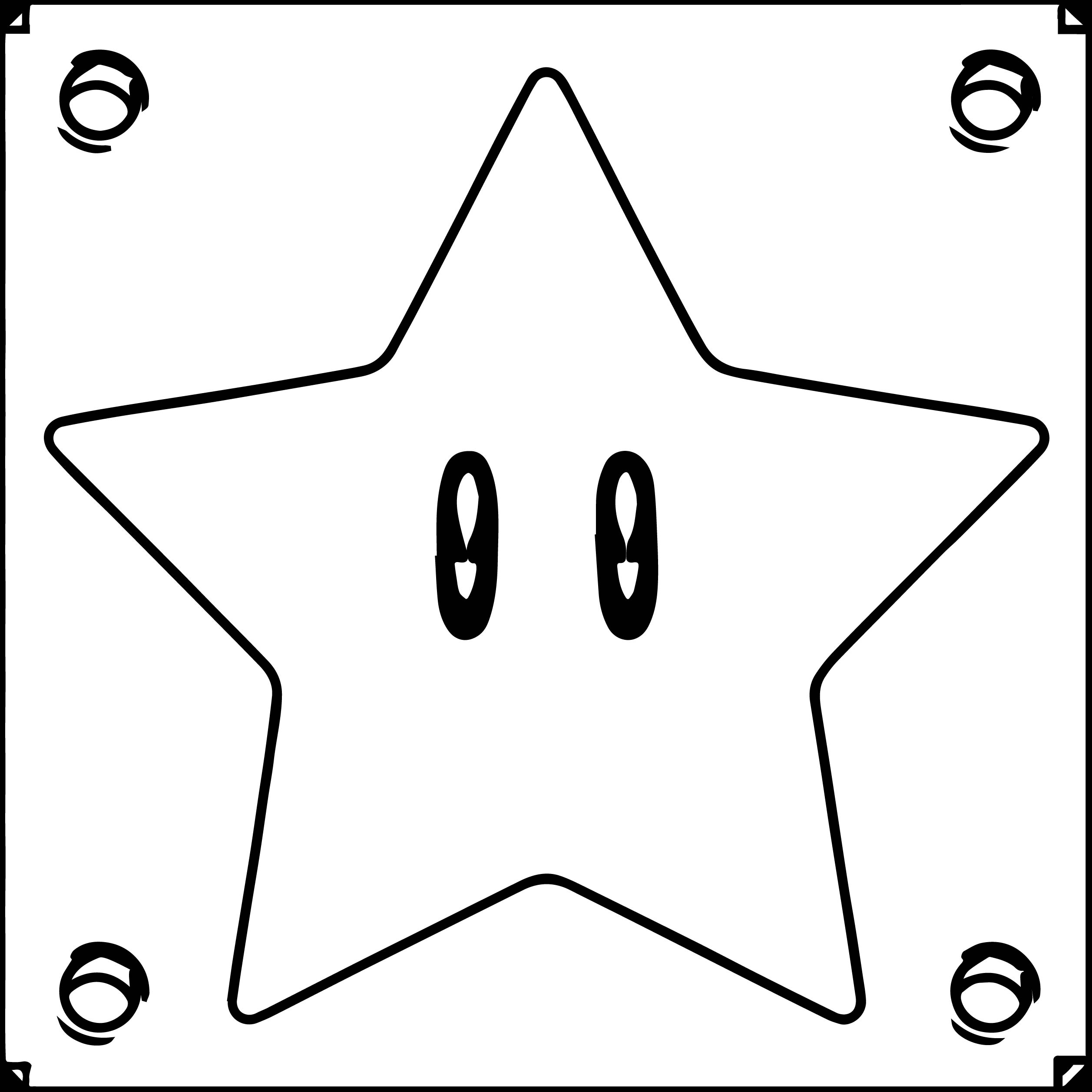Super Mario Star Box Coloring Page