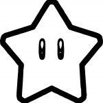 Super Mario Star Coloring Page
