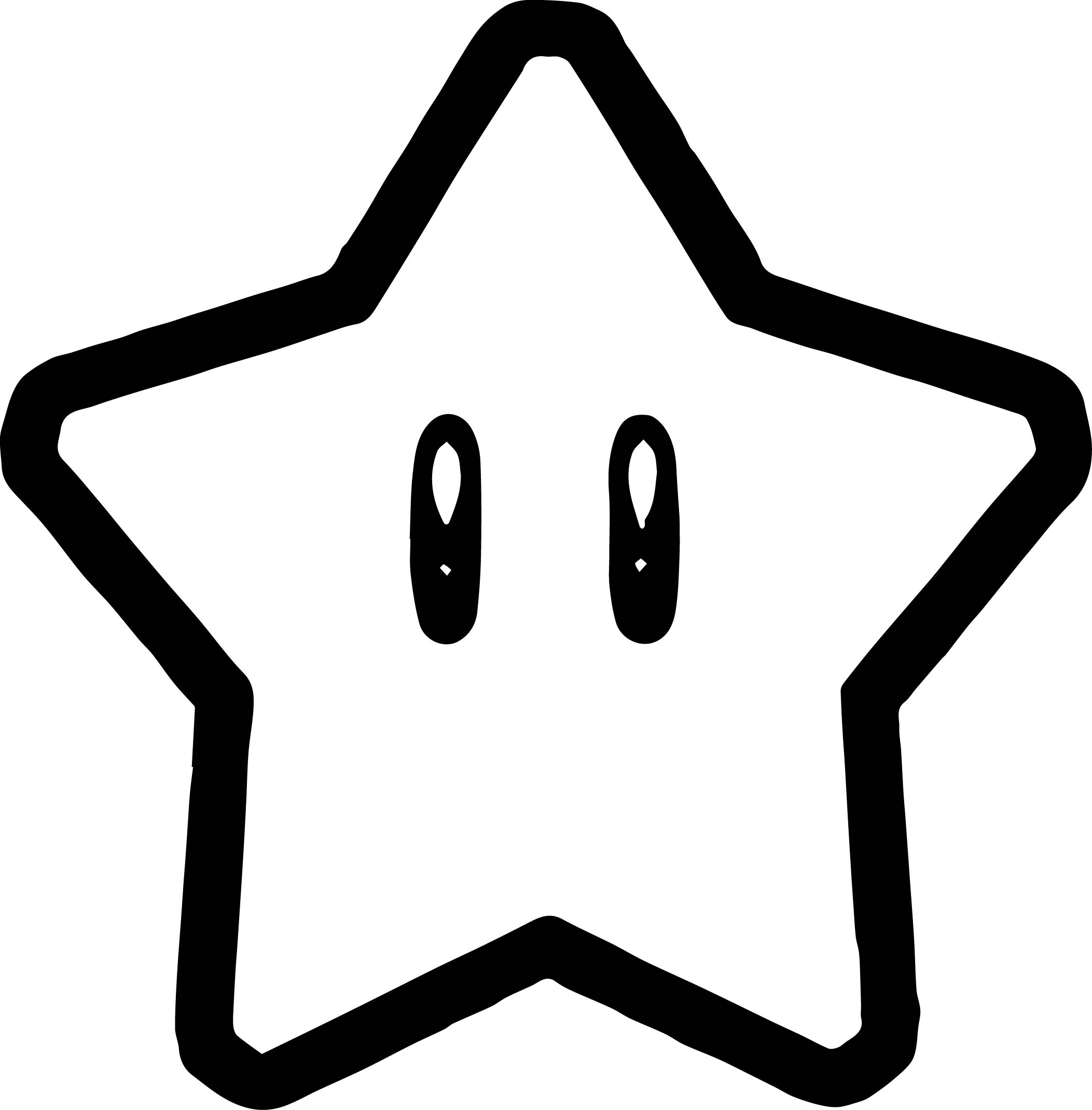 Super Mario Star Coloring Page