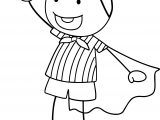Superman Children Coloring Page