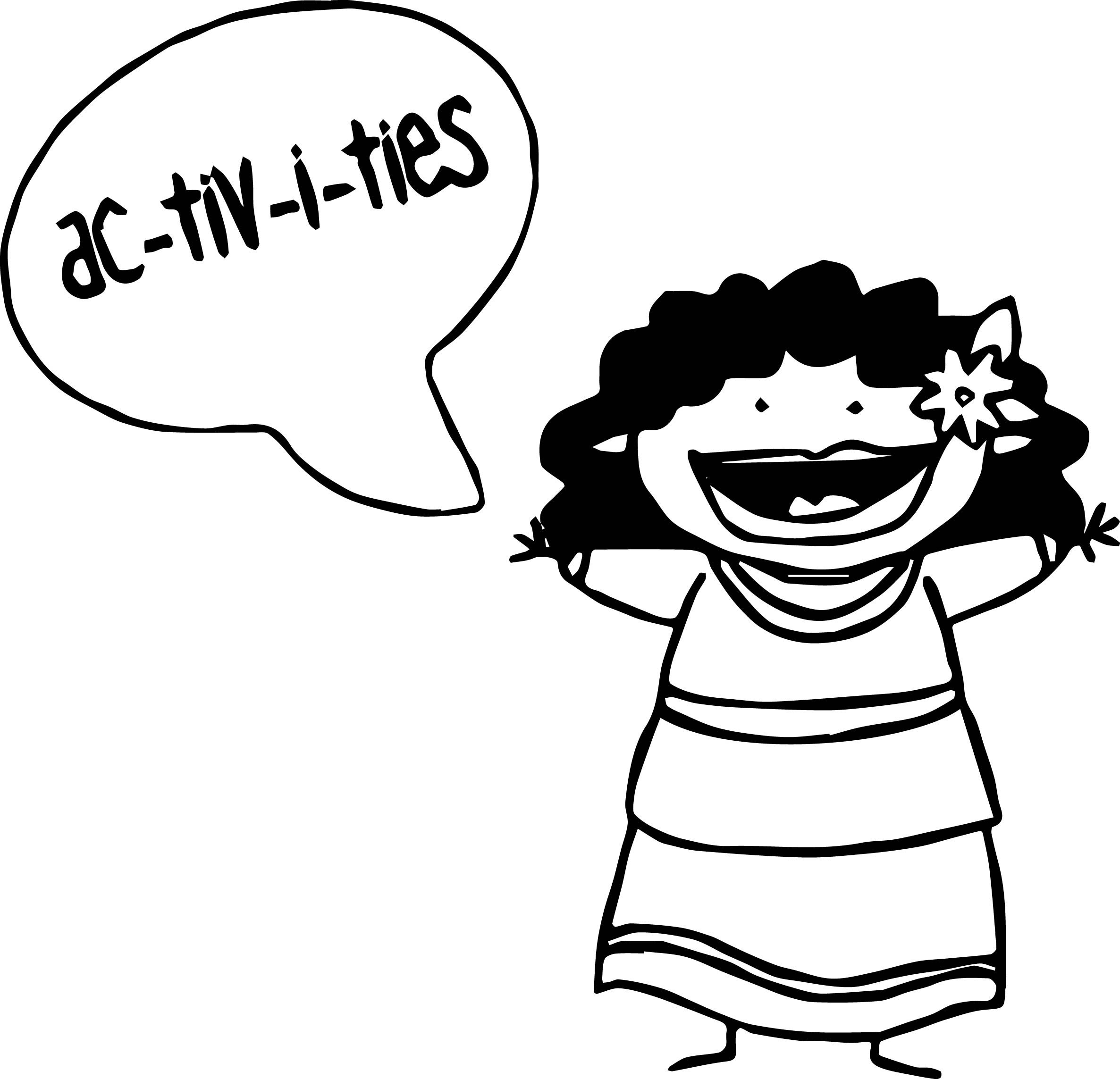 Syllable Graphic Activity Coloring Page