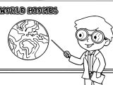 Teaching World Biomes On Chalkboard Teacher Coloring Page