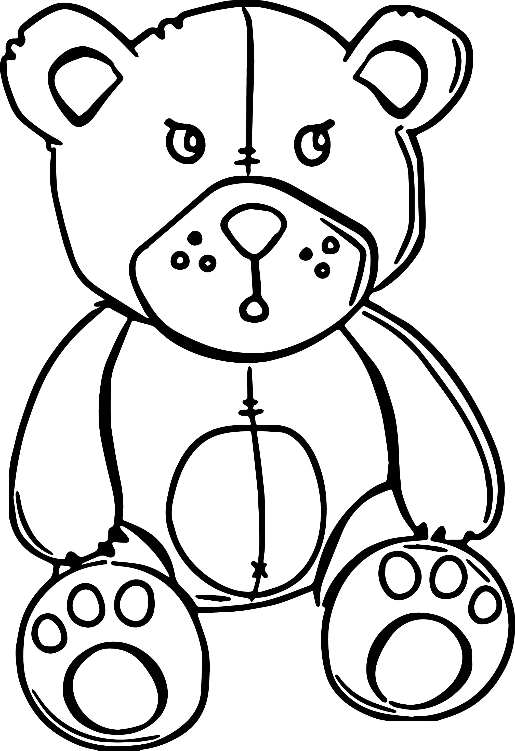 Teddy Bear Free Coloring Page