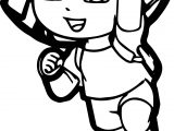 Themes Dora Cartoon Coloring Page