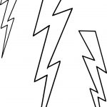 Three Lightningbolt Coloring Page