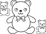Toy Bear Family Coloring Page