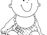Very Cute Baby Boy Coloring Page