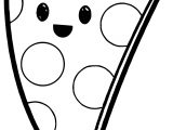 Very Cute Pizza Coloring Page