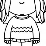 Waiting Girl For Kids Coloring Page