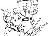 Walt Disney 3 Little Pigs Coloring Page