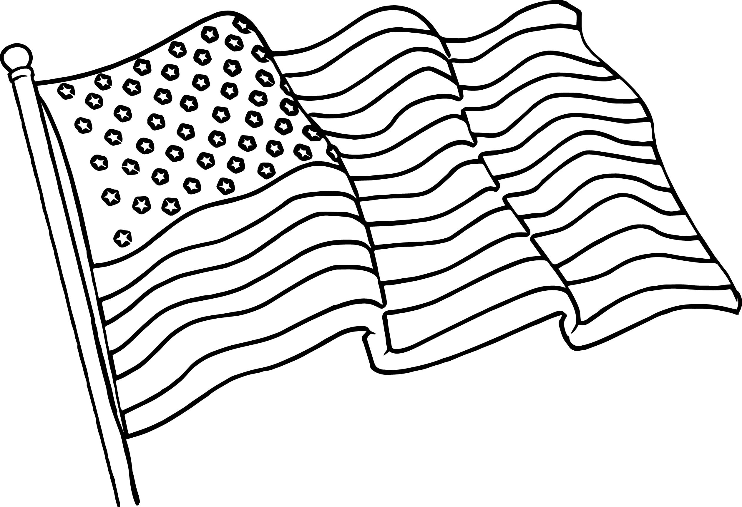 Uncategorized Flag Coloring Pages waving american flag coloring page wecoloringpage page