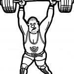 Weightlifter Coloring Page