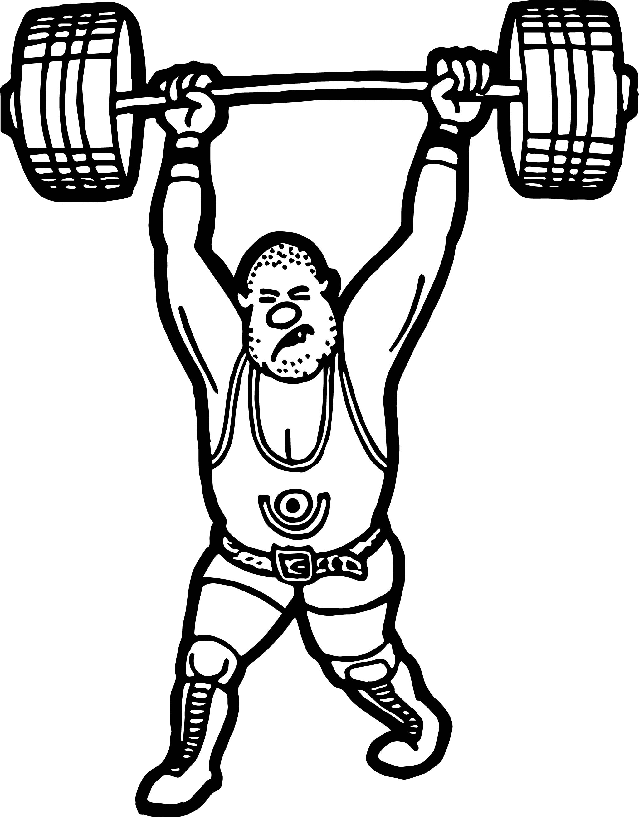 Weightlifter Coloring Page Wecoloringpage