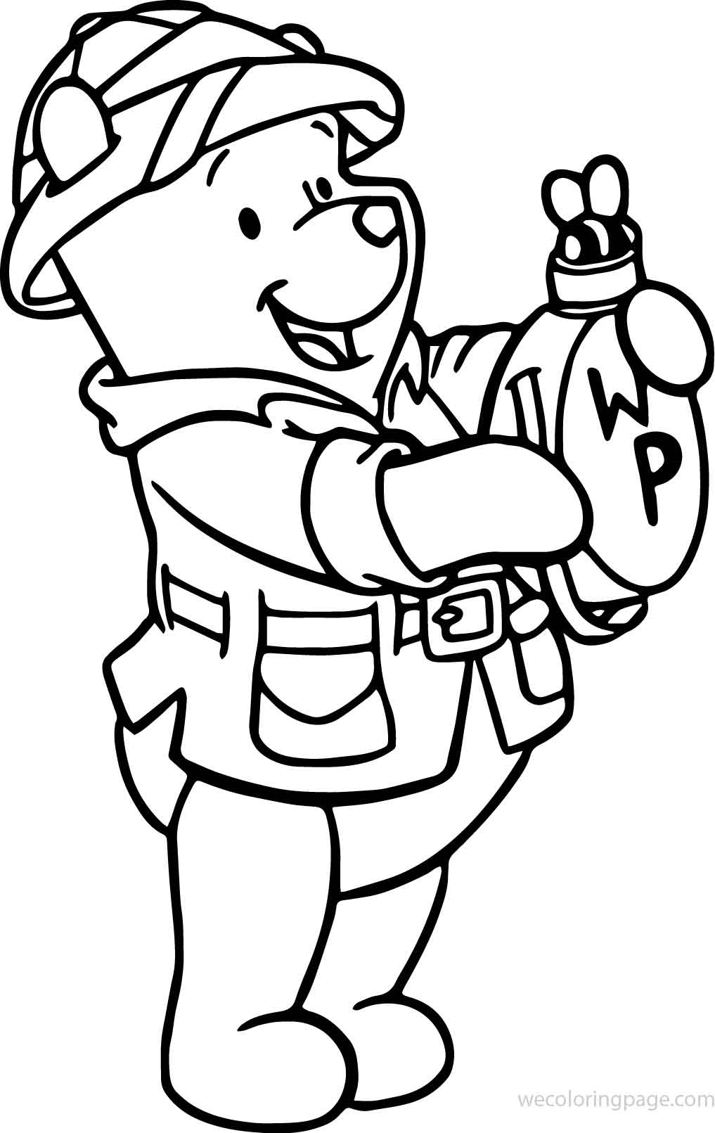 Winnie The Pooh Animal Kingdom Coloring Page