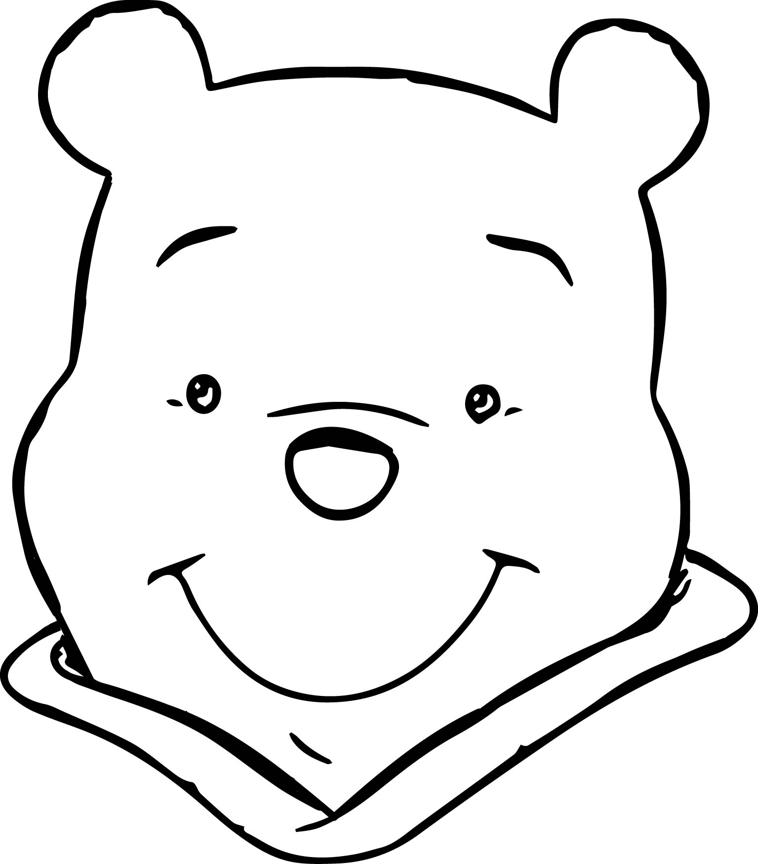 Winnie The Pooh Face Coloring Page : Wecoloringpage