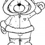 Winter Bear Hi Coloring Page